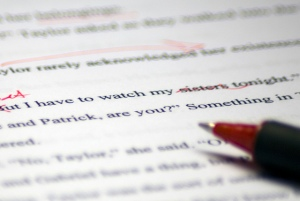 editing, writing, red pen,